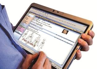 Pain management EMR on tablet