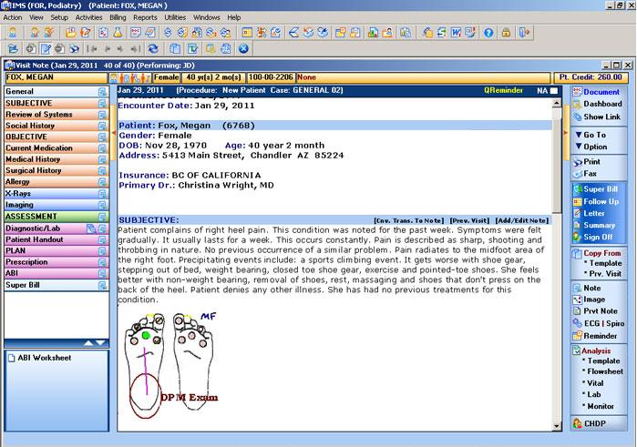 Podiatry EMR software
