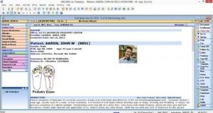 Podiatry EMR Visit Note
